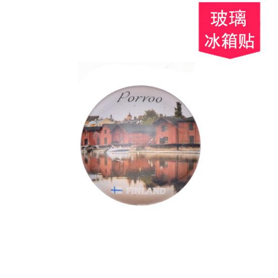 Round Glass Magnet Souvenir Wholesale Customize Gift