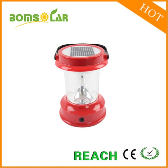 Portable Solar Lantern LED Solar Camping Light with Built in Solar Panel pictures & photos