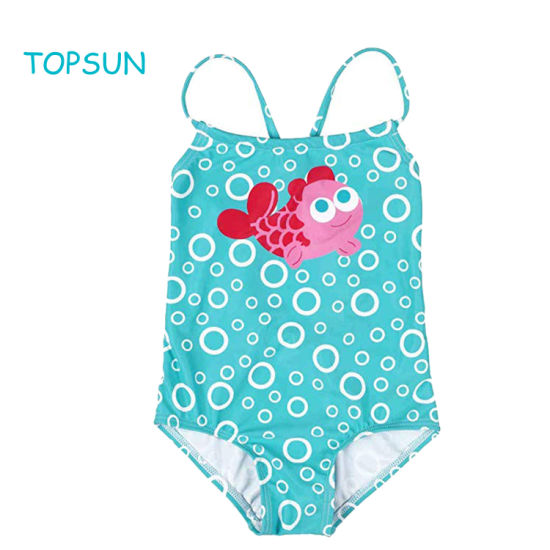 Infant Apparel Ruffle Swimsuit Striped Swimming Cosutme Toddler Blue Outdoor Wear Clothes