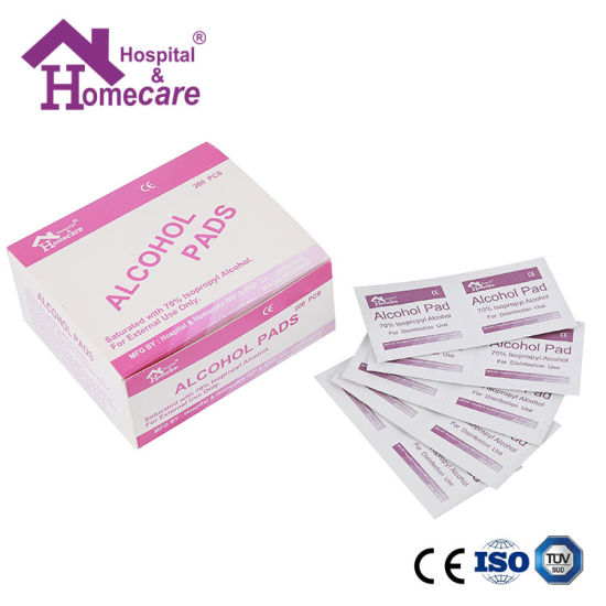 Medical 70% Isopropyl Alcohol Swab with ISO Certified