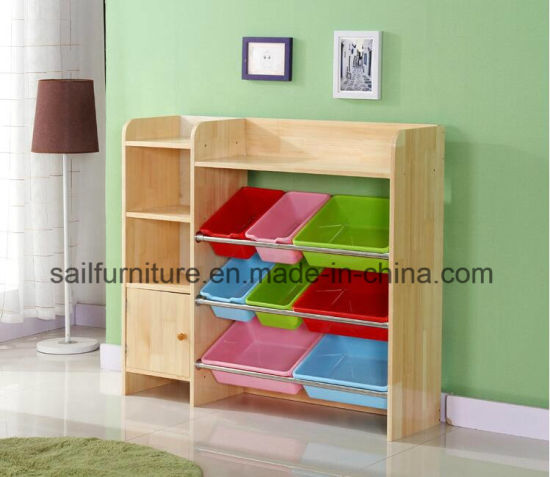 Wooden Kids Cabinet and Toy Storage