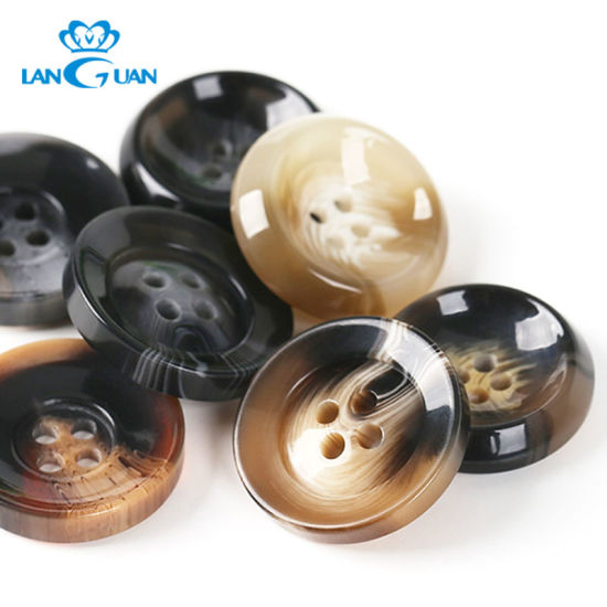 Fashion Ol Coat Round Plastic Button Resin with 4 H
