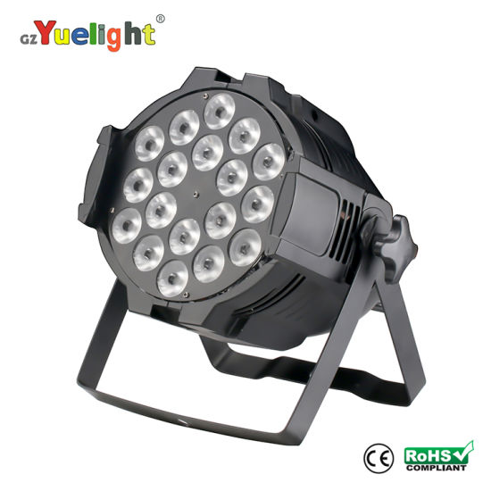 Ce Factory Price 18PCS 5in1 Full Color LED PAR Light Stage Equipment Stage Lighting LED Display