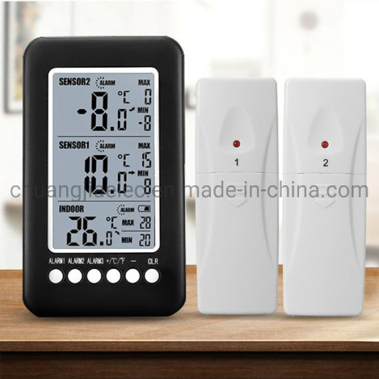 Digital LCD Thermometer Indoor Outdoor Thermometer Dual Sensor Twin Display