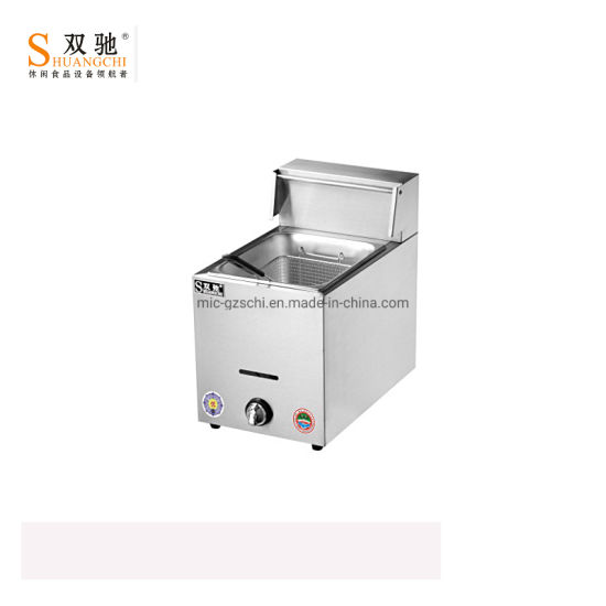 Sc-71 Stainess Steel with Gas Fryer Deep Fryer for Sale pictures & photos