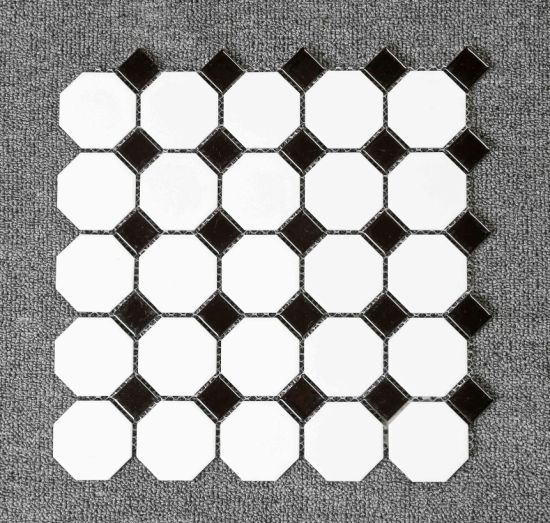 Go Black and White Design Mosaic Tile for Home Decor