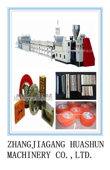 Plastic Foamed Picture/Photo Frame Profile Production Line pictures & photos