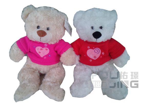 Custom Red T-Shirt Cute Color Plush Teddy Bear Toy