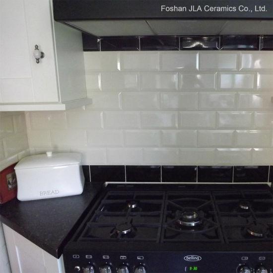 3X6inch/7.5X15cm Beige Glazed Ceramic Subway Tile Kitchen Wall Covering