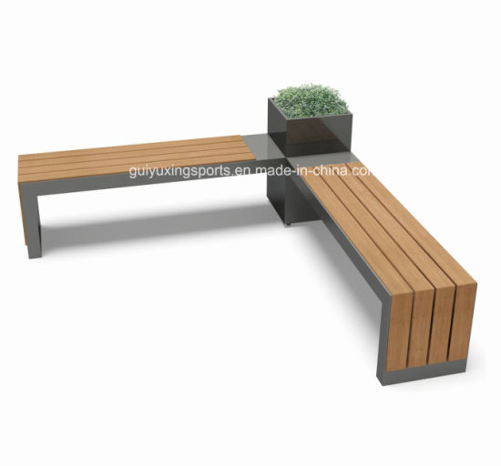New Flower Box Bench In The Park