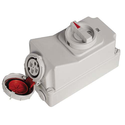 IP67 16A 4p Red Electric Switch Socket Machine