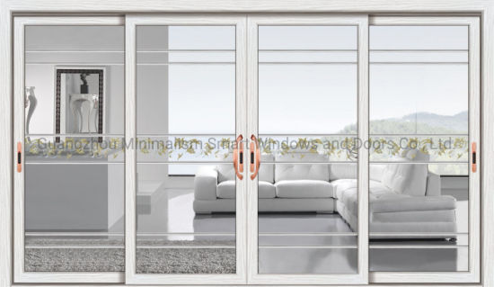 China Supplier Aluminum Glass Sliding Doors with Double Glazing