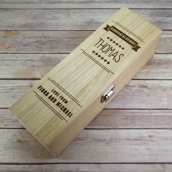 Customize Wooden Red Wine Box with Cheaper Price pictures & photos