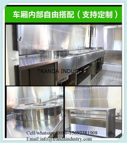 Strong Food Vending Carts with Cooking Equipments Hot Dog Cart pictures & photos