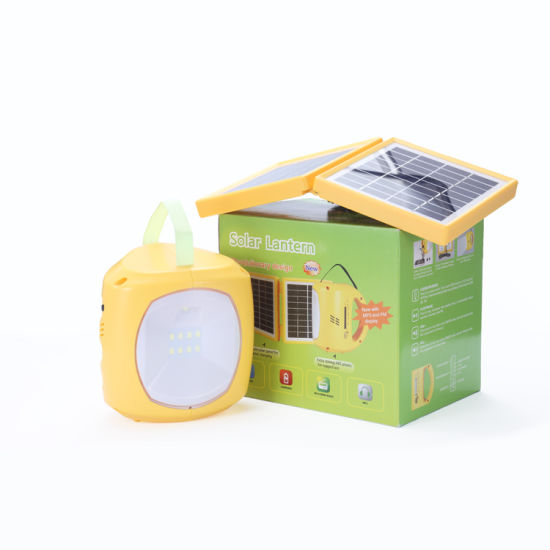 Solar Power LED Reading Lamp Hand Camping Lantern Table Light pictures & photos