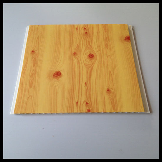 Wooden Color PVC Panel for Wall and Ceiling Use Hot-Stamping (HN-2506)
