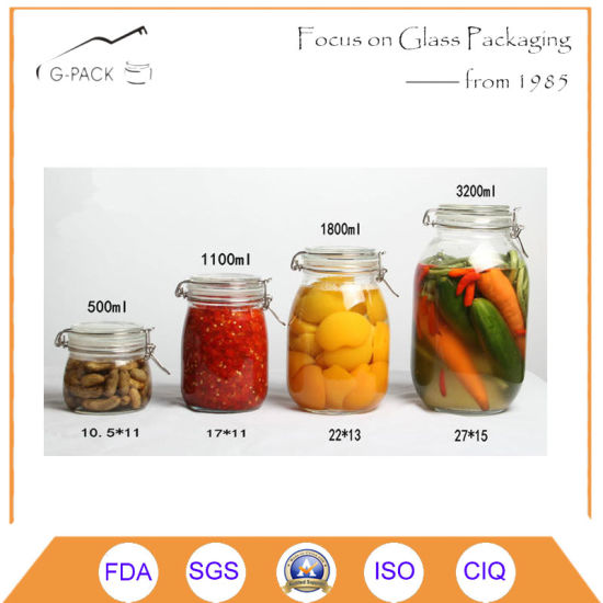 Glass Airtight Jar for Food Storage Purpose pictures & photos