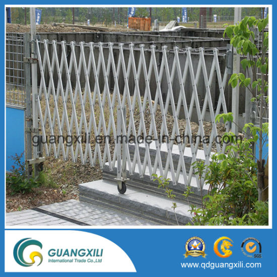 China retractable temporary fence car parking crowd