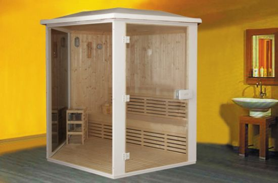 6 Person Finland Wood Built Monalisa Home Sauna For Sale