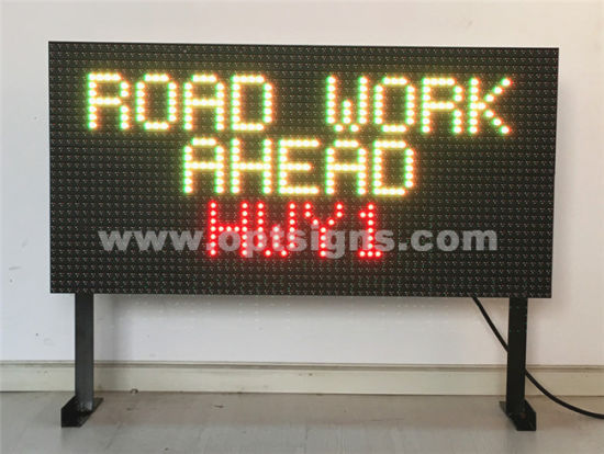 Outdoor Electronic Vms Double Sided Led Variable Message Sign Traffic Display Board Pictures