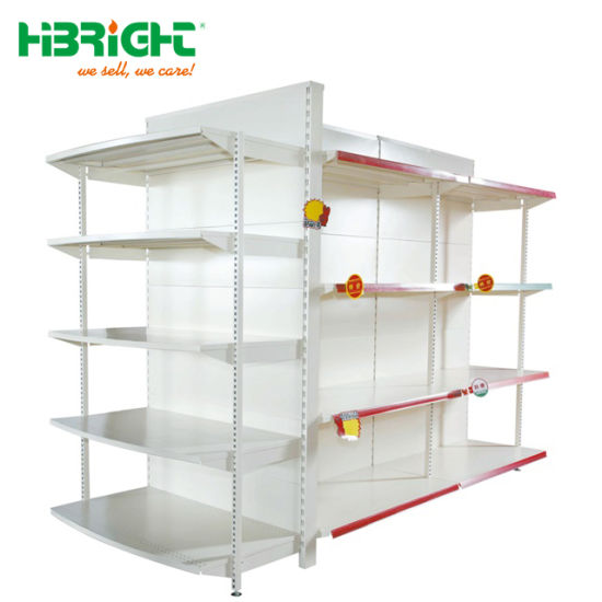 High Quality Single Double Sided Luxury Back Panel Supermarket Shelf pictures & photos