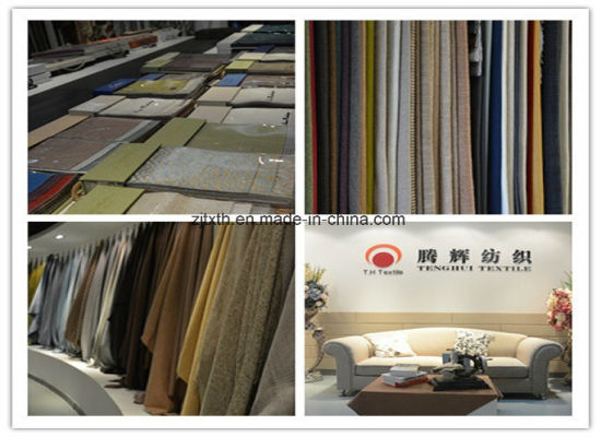 2017 Cushion Cover Fabric Linen Looks Fabric pictures & photos