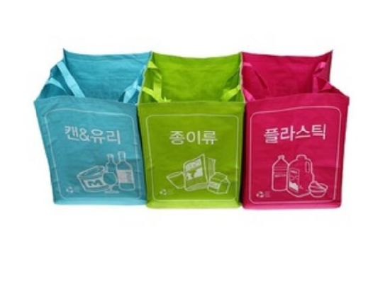 Korean Eco-Friendly Shopping Custom Laminated PP Woven Tote Bag Reusable PP Woven Garbage Bag