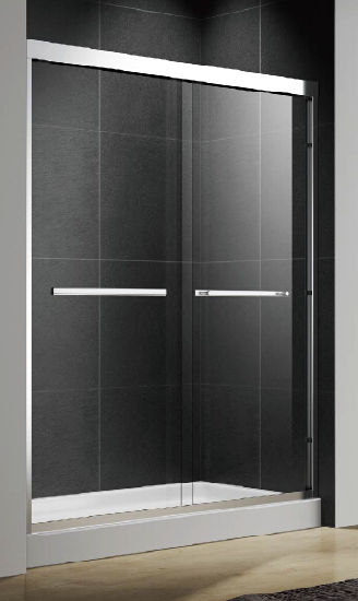 Bypass American Stainless Steel Heavy-Duty Straight Double Sliding Shower Door pictures & photos