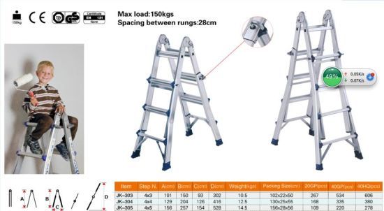 En131 Approved 4*4 Aluminium Little Giant Ladder pictures & photos