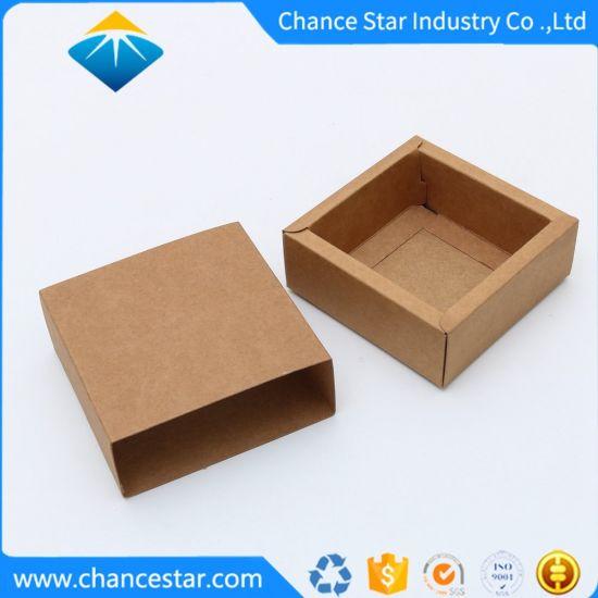 Custom Fold Plain Kraft Paper Drawer Box with Paper Sleeve