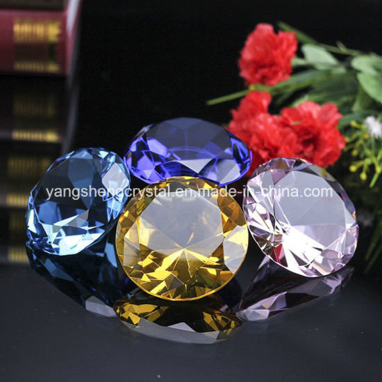 Handmade Large K9 Crystal Diamond for Shape Wedding Favors Gift pictures & photos
