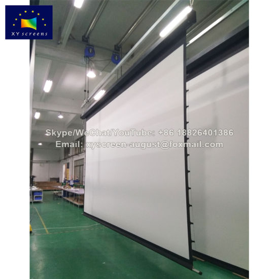 Xy Screens Large Size 250 Inch 16: 9 Retractable Motorized Projector  Screens for Sale