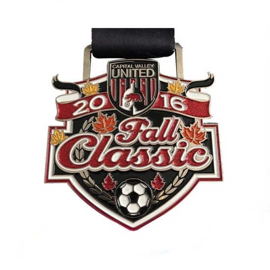 868d77fc9bf 2017 Hot Sale Custom Design Football Soccer Medal with Glitter pictures    photos
