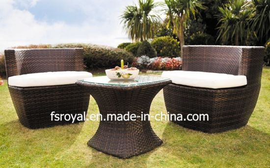 Chinese Style Aluminium PE Rattan Patio Leisure Outdoor Dining Furniture