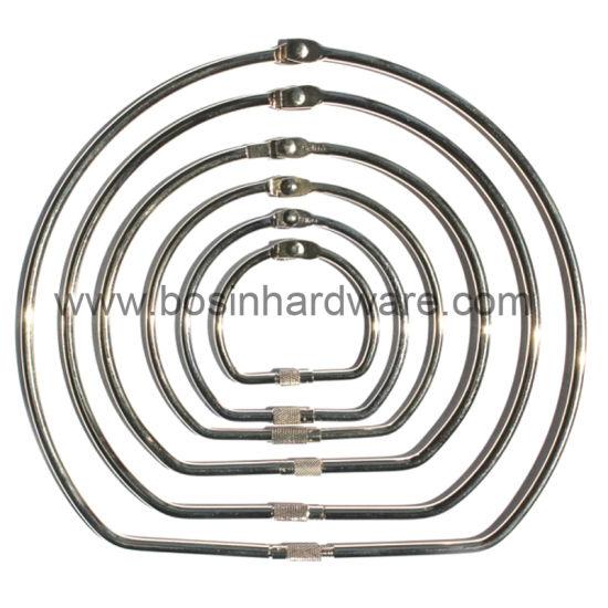 Gold Plated Metal Binder Ring for DIY Craft