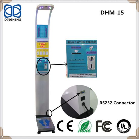 Digital Height and Weight Scale with Coin Operated