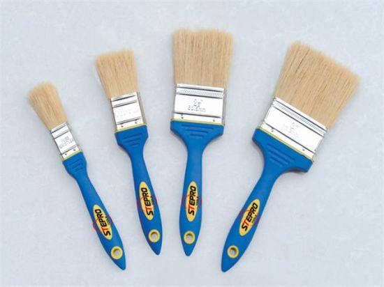 "TPR Handle Pure Bristle Brush, Painting Tools 1"""