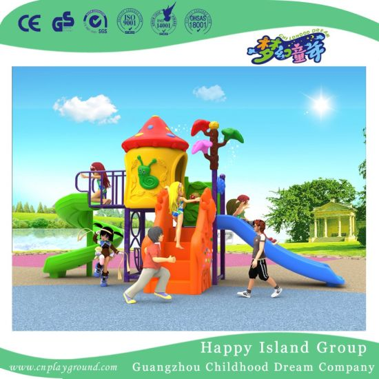 2018 New Outdoor Small Size Children Mushroom House Playground Equipment with S Type Slide (H17-A12) pictures & photos