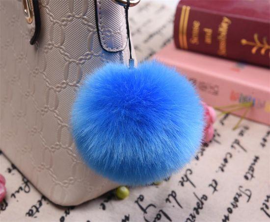 Fake Fur Pompom Keychain Fur Ball