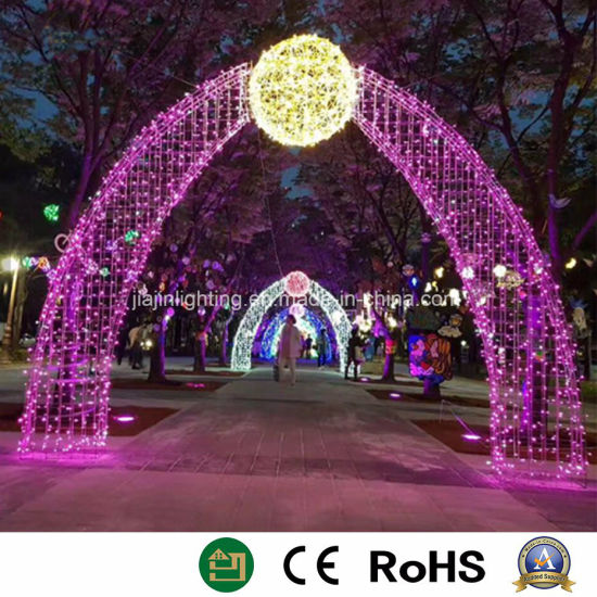 outdoor across street arch decoration lights