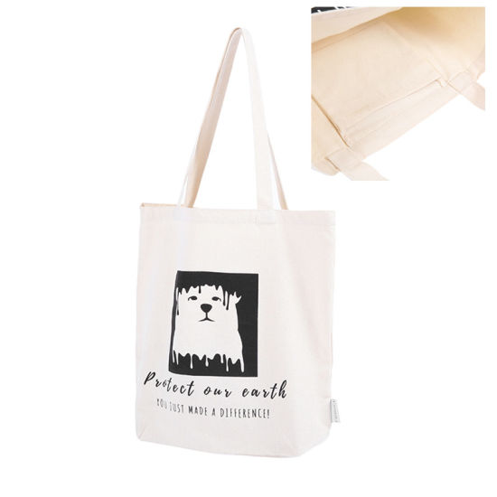 Custom 10oz 12oz 16oz Promotional Gift Cotton Canvas Tote Bag with Pocket