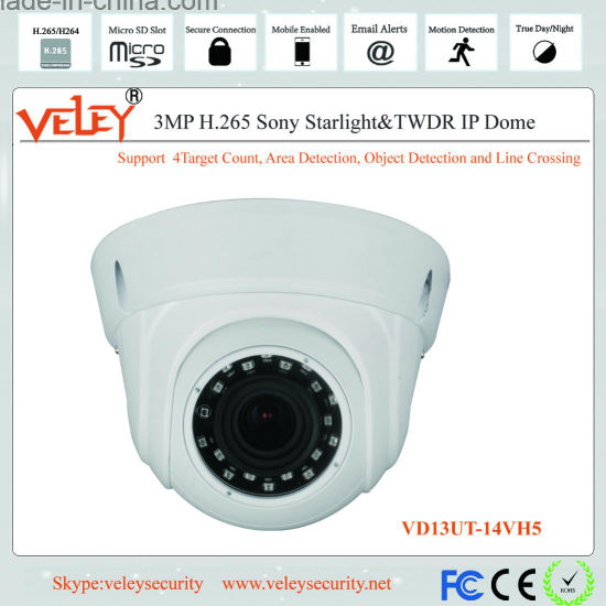 3MP Ik10 Infrared Security IP Dome Surveillance Video Camera pictures & photos