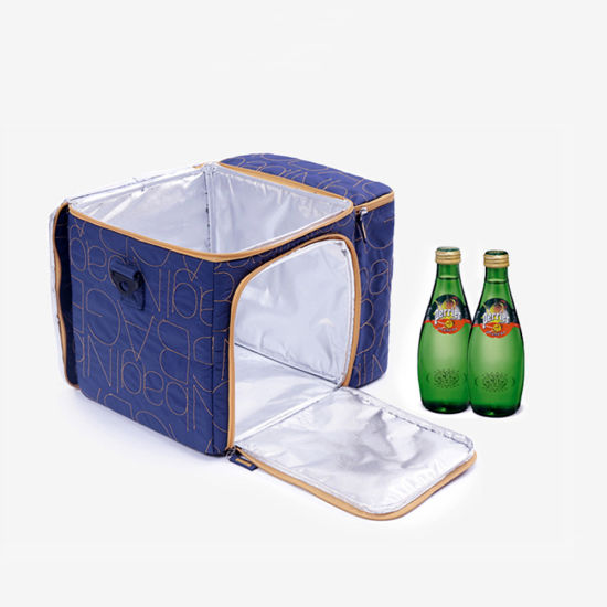 Polyester Cooler Bag, Wholesale Portable Oxford Nylon 600d Durability Freezer Insulated Tote Thermal Wine Can Beer Bottle Ice Lunch Picnic Box Food Delivery Bag