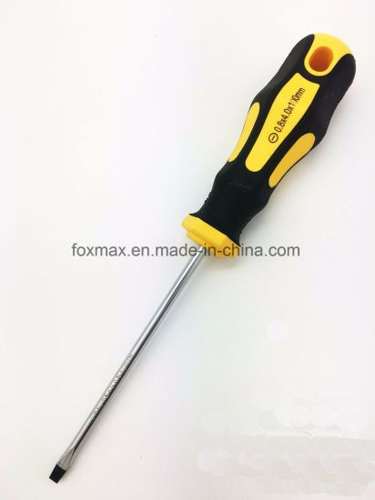 Cr-V High Quality Screwdriver of Soft Handle Fs-001 pictures & photos