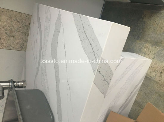 China Hot Sale Artificial Stone Calacatta White Quartz Slabs With