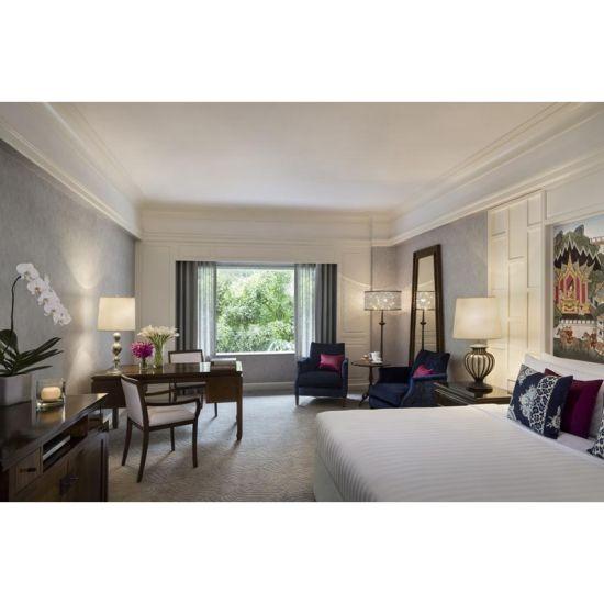 Contemporary Hotel Furniture Modern Teak Wood Bedroom Furniture Set