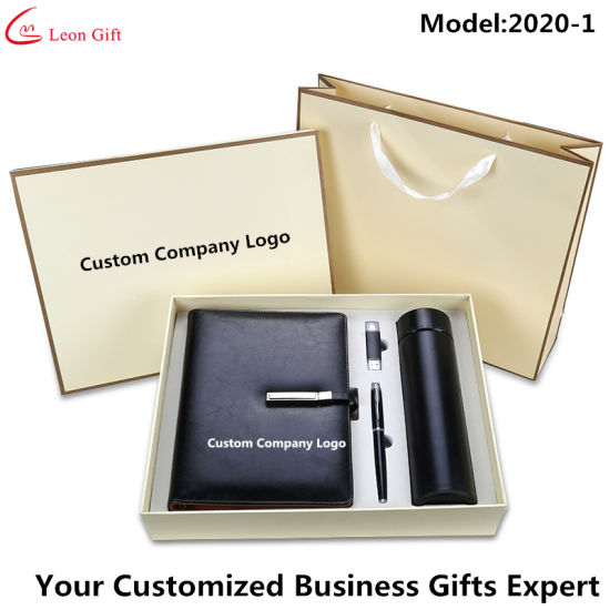 Factory Wholesale Luxury Business Gifts Notebook Pen USB Sets pictures & photos