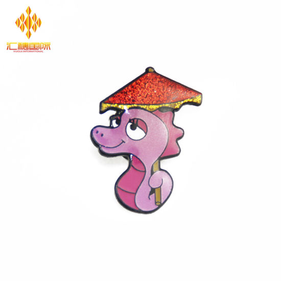 China Manufacture Custom Offset Cartoon Metal Pin Badge