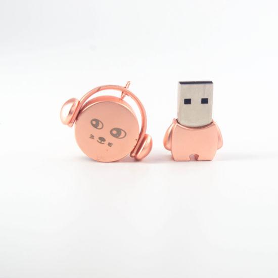 Customize Logo Cute Metal Music Player Waterproof USB Stick Flash Drive 2GB 4GB 8GB 16GB 32GB 64GB 128GB USB2.0 Memory Drive USB Memory Memory Pendrive Exte
