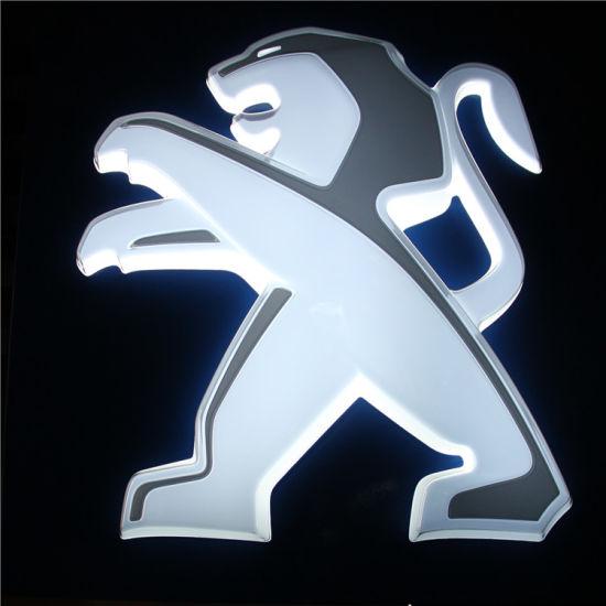 Peugeot Skoda Light 3D LED Backlit Car Logo Stickers